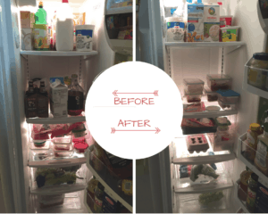 cleaning the fridge with diligence