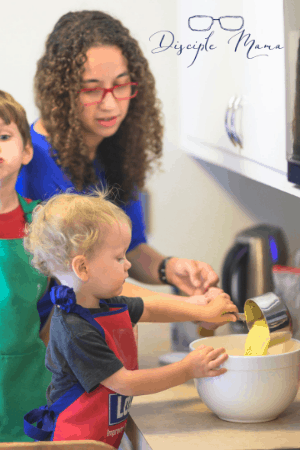 Cooking with toddlers | Disciple Mama